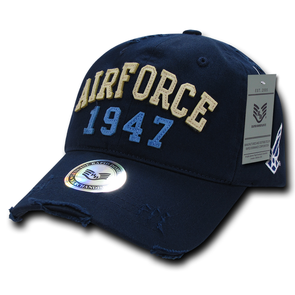 S80 - Vintage U.S. Air Force Cap 1947 - Relaxed Cotton - Blue