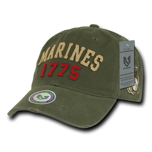 S80 - Vintage U.S. Marines 1775 Cap - Relaxed Cotton - Olive Drab