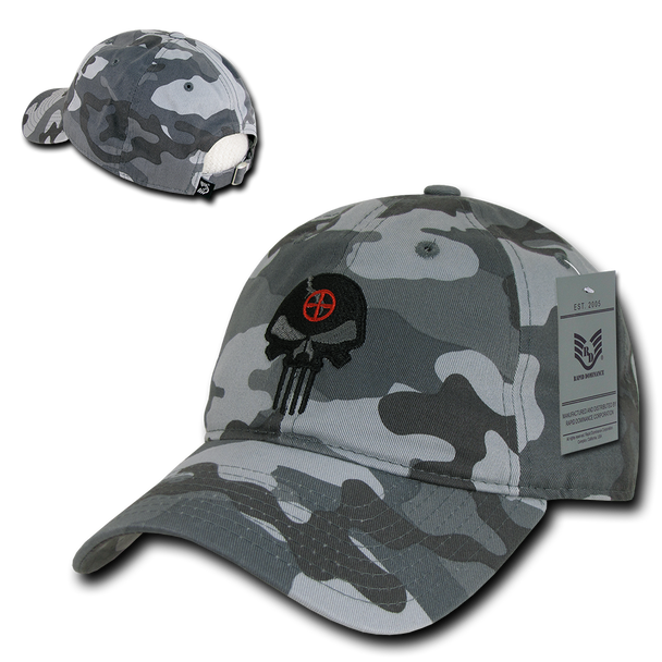 A03 - Punisher Skull Tactical Cap - Relaxed Cotton - Urban Camouflage