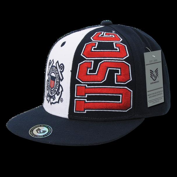S004 - Military Hat - U.S. Coast Guard Cap - Stack Up - Dark Blue