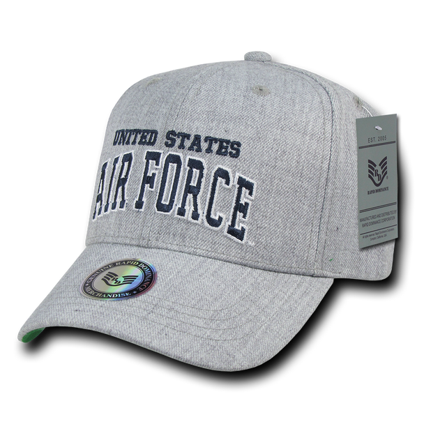 S016 - Military Hat - US Air Force Cap - Heather Grey