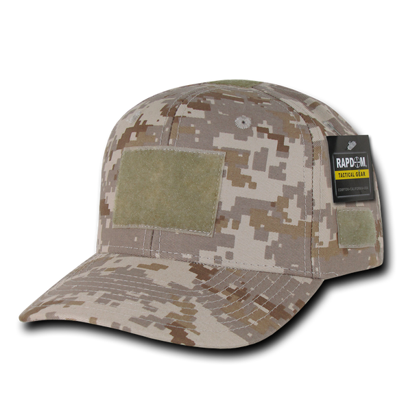 T75 - Tactical Operator Cap - Multi-Patch Desert Digital Camo