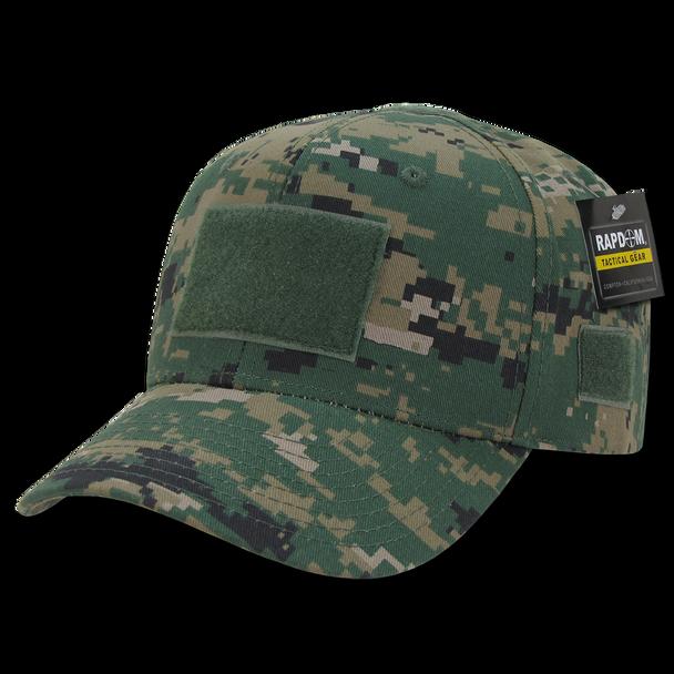 T75 - Tactical Operator Cap - Multi-Patch Woodland Digital Camo