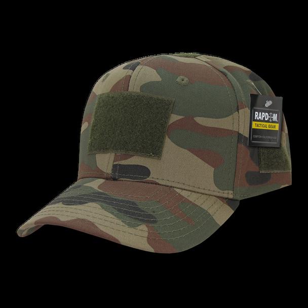T75 - Tactical Operator Cap - Multi-Patch Woodland Camo