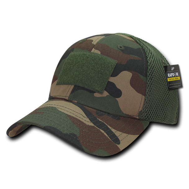 T81 - Tactical Cap - Air Mesh Flex - Woodland Camo