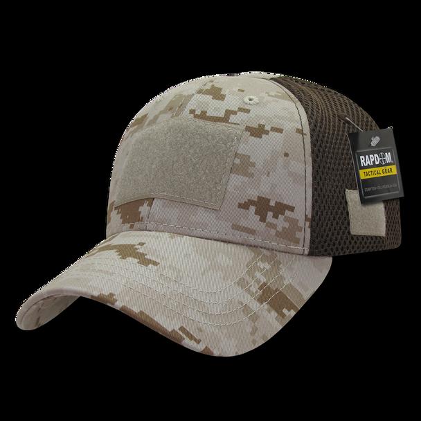T80 - Tactical Cap - Low Crown Air Mesh - Desert Digital Camouflage