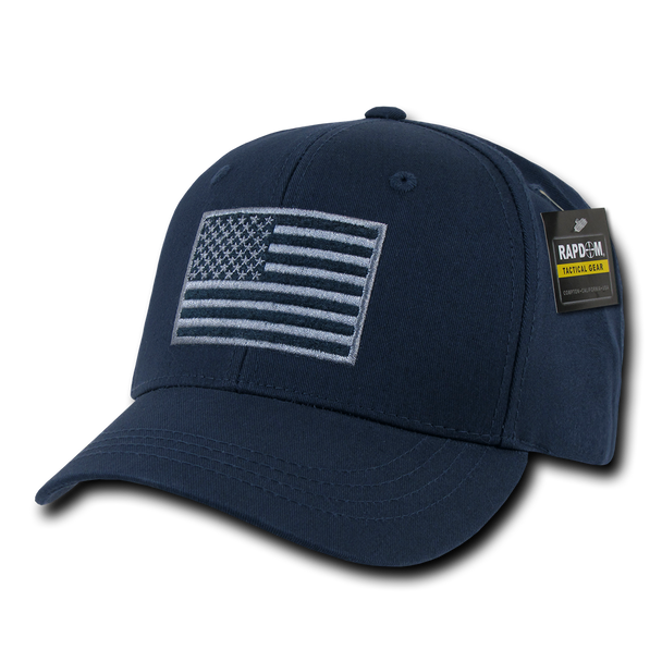 T76 - Tactical Operator Cap - American Flag Subdued - Dark Blue