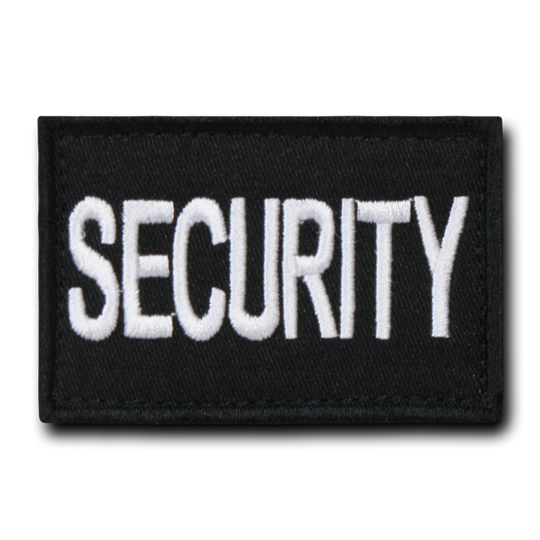 "T91 - Tactical Patch - Security - Velcro Canvas (3""x2"") - Black"