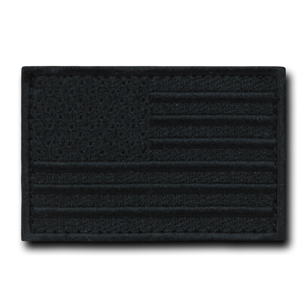 T91 - Tactical Patch - USA Flag - Black