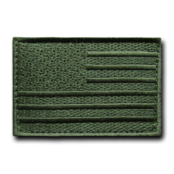T91 - Tactical Patch - USA Flag - Olive