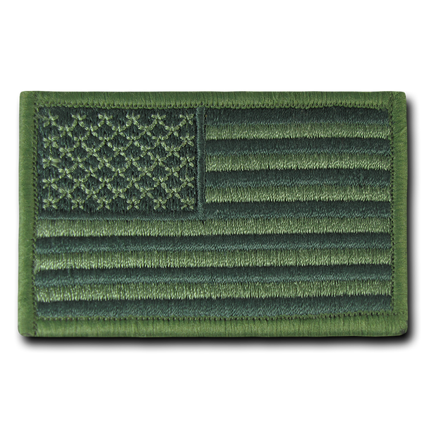 T91 - Tactical Patch - USA Flag - Subdued Olive