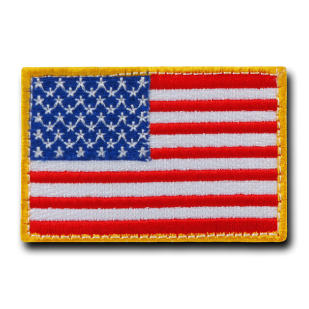 T91 - Tactical Patch - USA Flag - Red White Blue