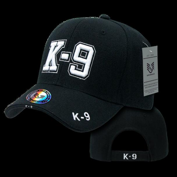 JW - Law Enforcement Cap - K-9 - Structured - Black