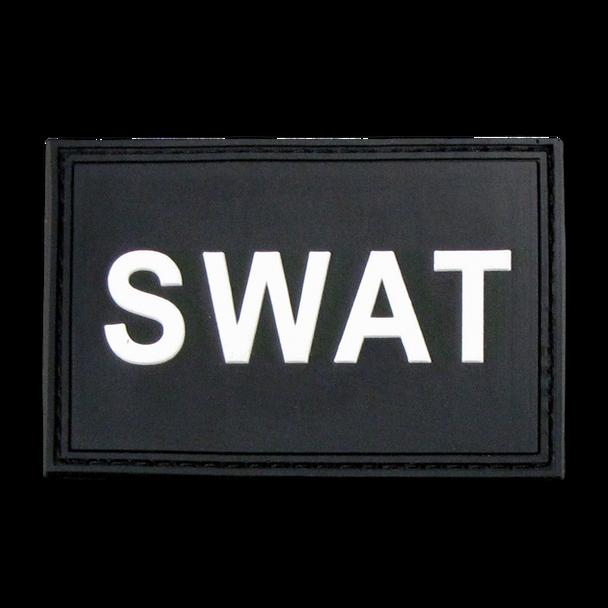 """T90 - Tactical Patch - SWAT - Rubber (3""""x2"""") - Black"""