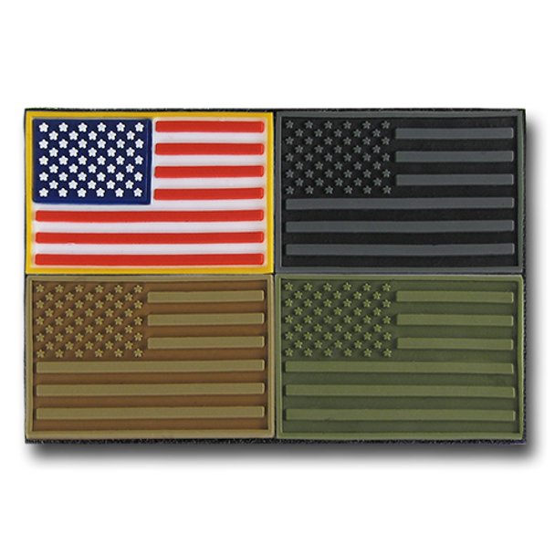 T96 - Tactical Mini Patches - USA Flag - 4-Pack