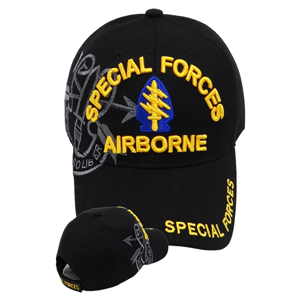 Special Forces Airborne Shadow Cap - Black