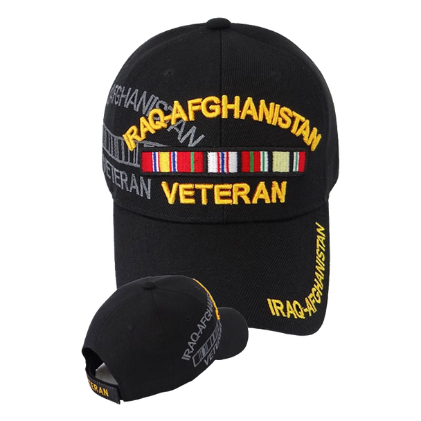 Iraq-Afghanistan Veteran Shadow Cap - Black