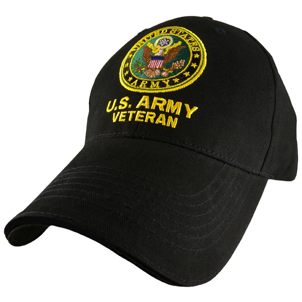 5344 - U.S. Army Veteran Cap - Cotton - Black