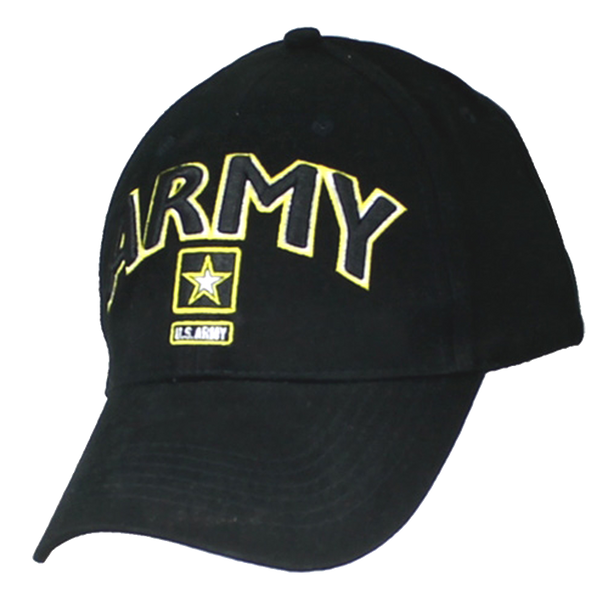 6468 - Army Cap - Star Logo - Cotton - Black