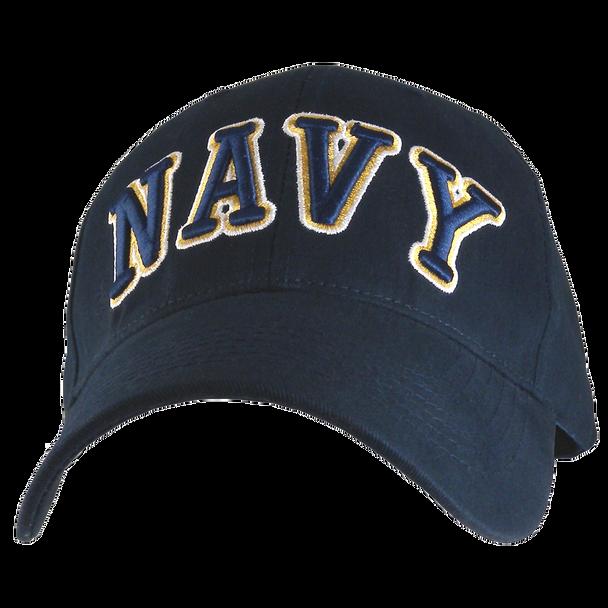 6403 - U.S. Navy Cap - 3-D Text Embroidery - Cotton - Dark Navy