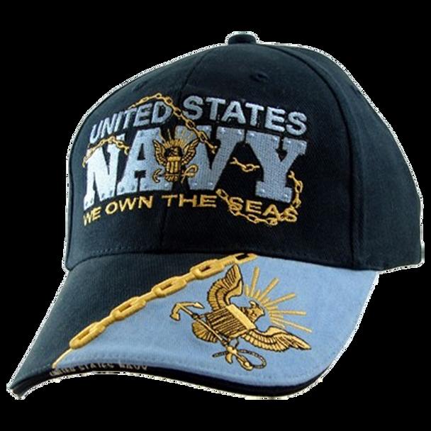 5667 - U.S. Navy Cap - We Own The Seas - Cotton - Navy/Light Blue