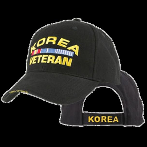 5354 - Korea Veteran Cap - Cotton - Black