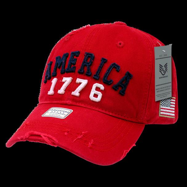 A01 - America Cap - 1776 Vintage - Red