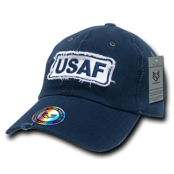 R21 - U.S. Air Force Cap - Vintage Patch - Washed Cotton - Dark Blue