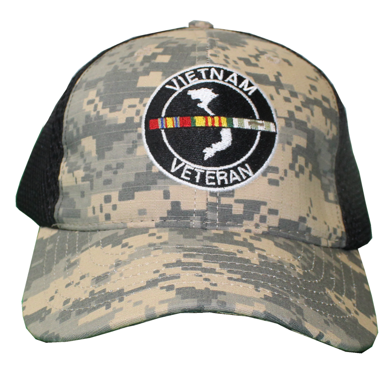 fc949ab91e58a ... 26054 - Vietnam Veteran Cap - Made in USA - Digital Camo Black Mesh