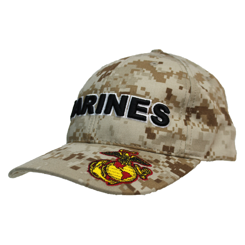 57a4b816af4 21547 - U.S. Marines Cap - Made in USA - Desert Digital Camo ...