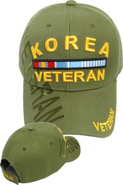 ea1174e512e3c Korea Veteran Cap with Ribbons - Olive Drab - USMILITARYHATS.COM