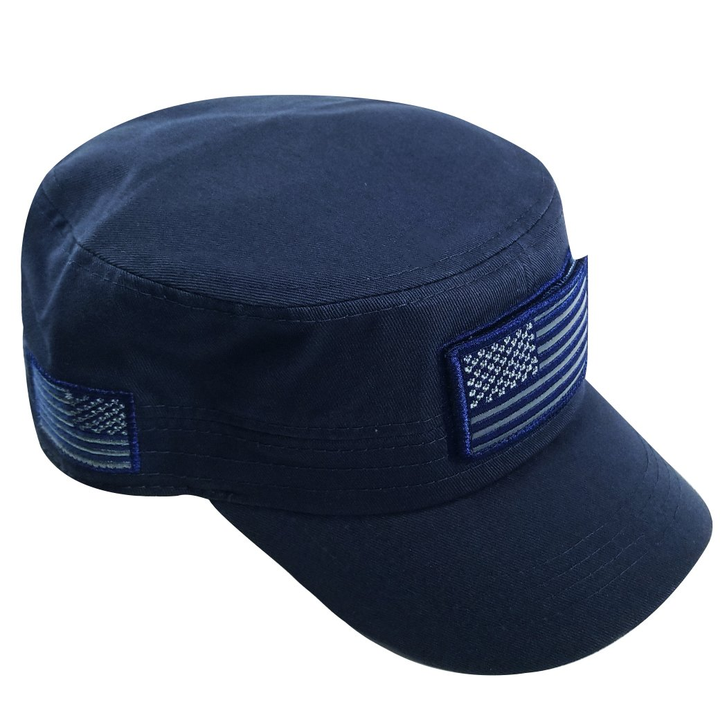 Personalized U.S Navy Metalic Light Cap One Size Fit PHT182103A21 American Flag Cap
