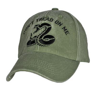 a16f79038e2 Eagle Crest 6604 - Don t Tread On Me Cap - Cotton - Olive Drab