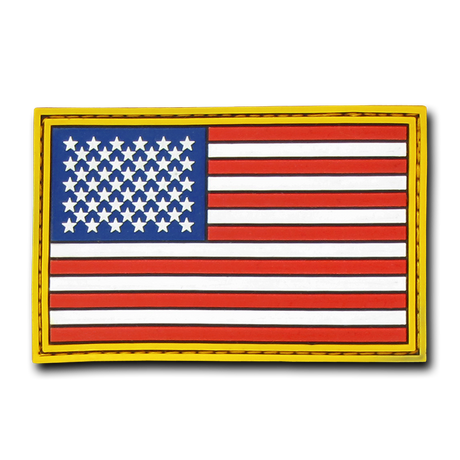 T90 Tactical Patch Usa Flag Rubber 3 X2 Red White Blue Gold Usmilitaryhats Com