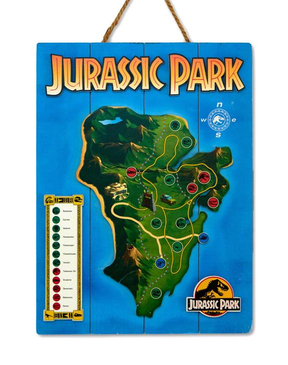 "JURASSIC PARK  - WOODART 3D ""Isla Nublar"""
