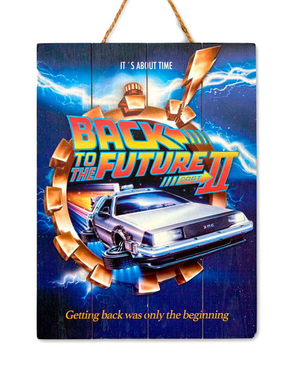 "BACK TO THE FUTURE II - WOODART 3D -""Flying Delorean"""