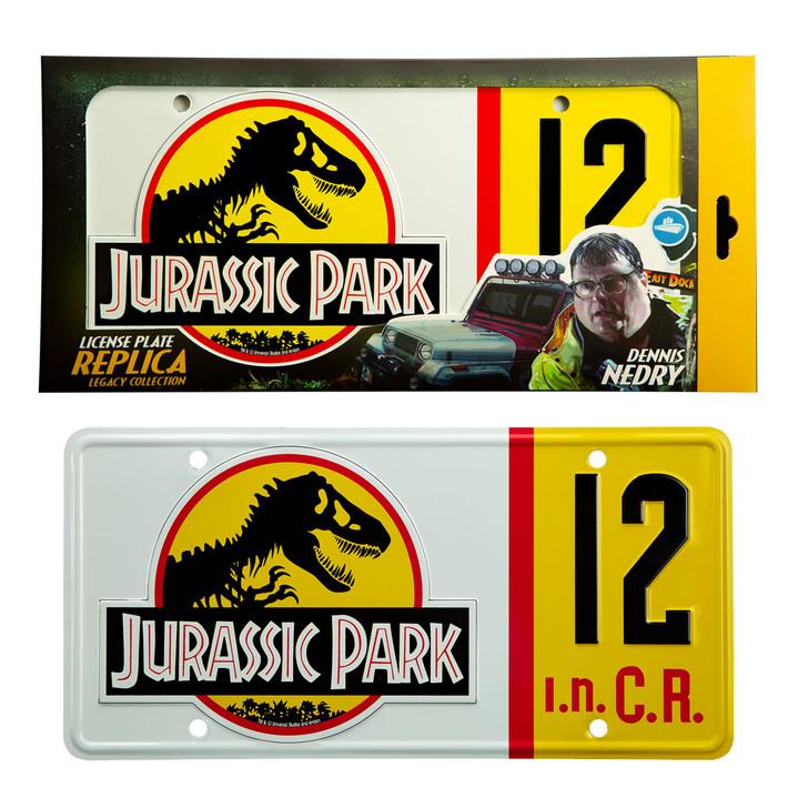 "JURASSIC PARK ""Dennis Nedry"" -  Licence Plate Replica"