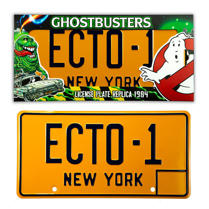 """GHOSTBUSTERS """"ECTO-1"""" -  Licence Plate Replica"""