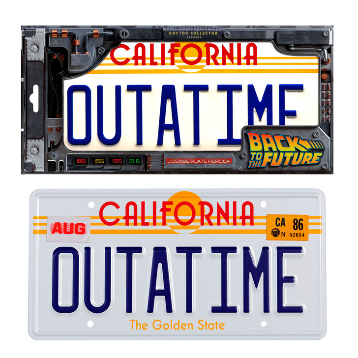 """BACK TO THE FUTURE """"OUTATIME"""" -  License Plate"""