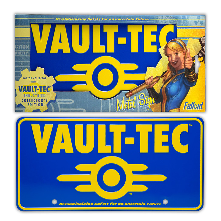 FALLOUT / Vault Tec - Metal Sign