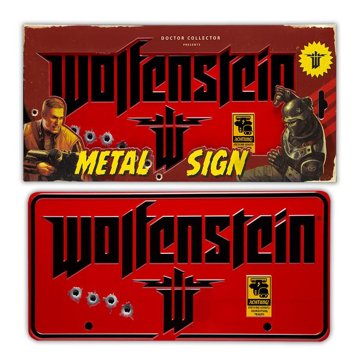 WOLFENSTEIN - Metal Sign