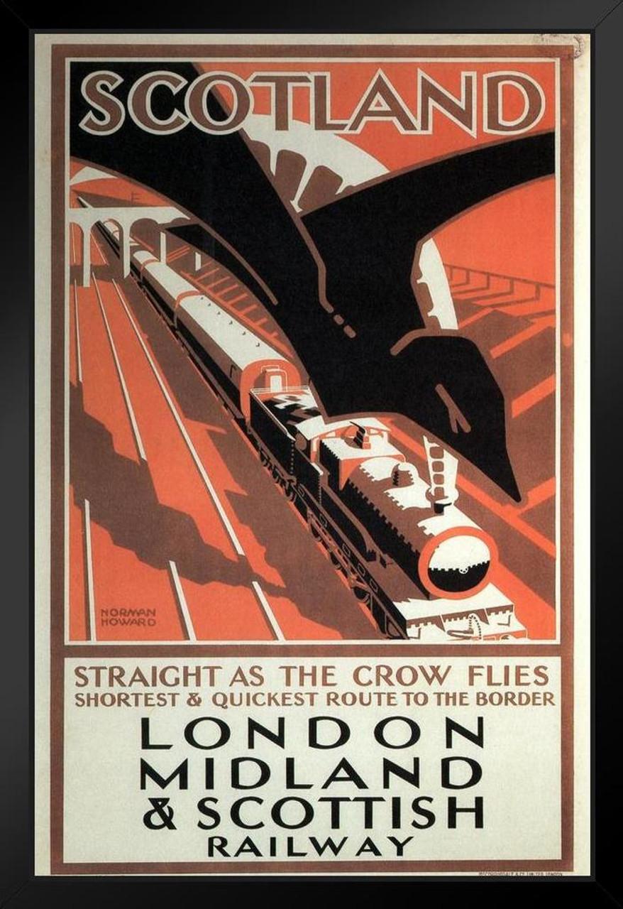 Iona Scotland vintage travel poster repro 16x24
