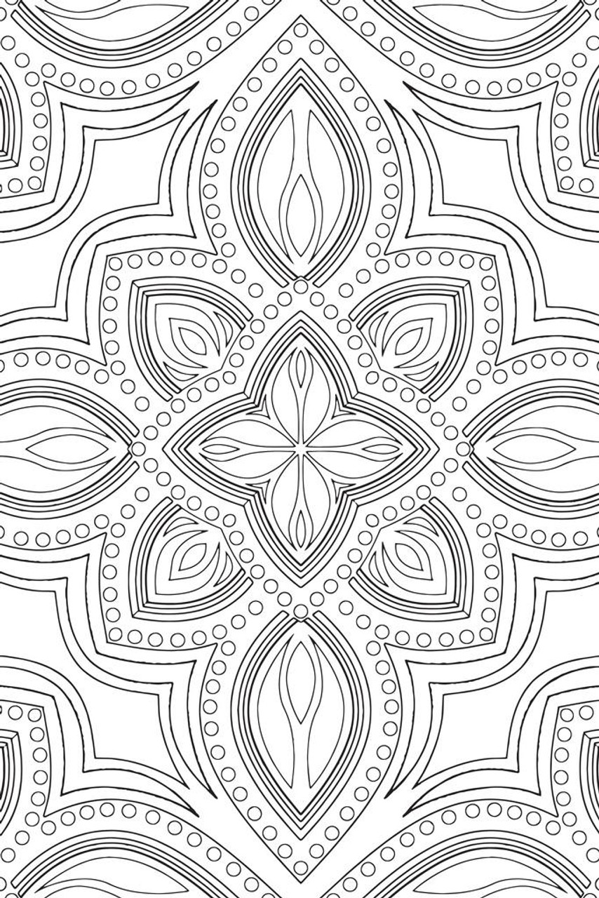 - Mandala Pattern Coloring Poster For Adults Relaxation Activity