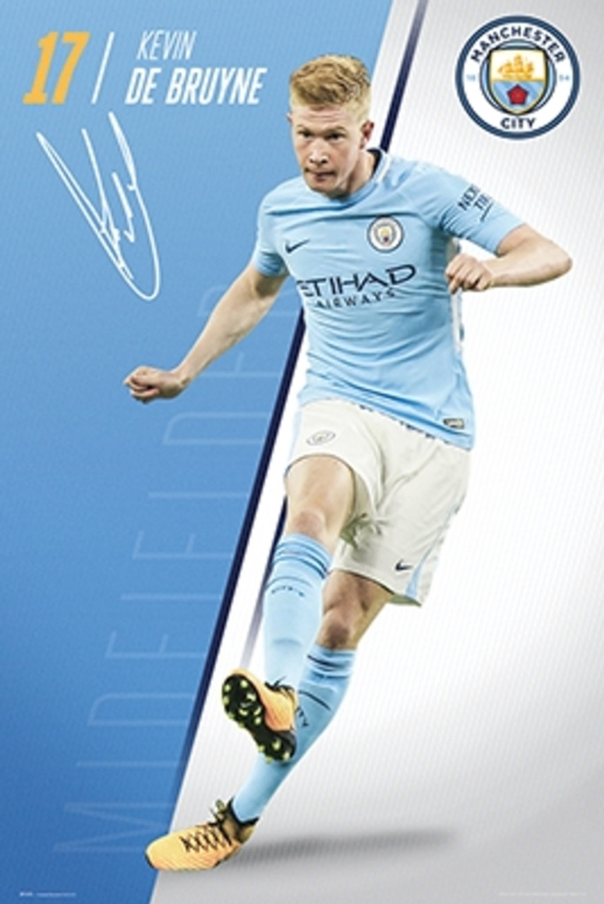 buy online 9e0eb cf39d Manchester City Kevin De Bruyne Football Soccer Sports Poster 24x36 inch