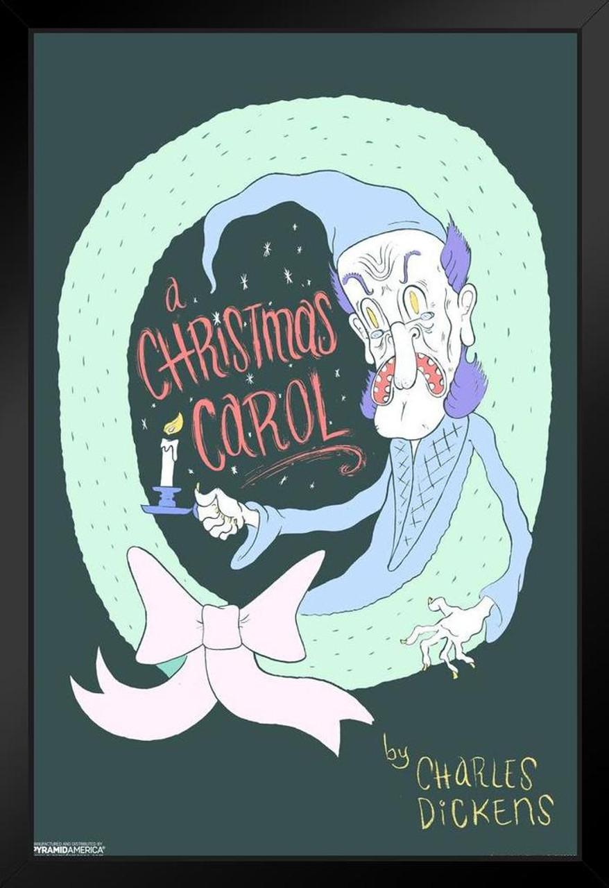 A Christmas Carol Poster.A Christmas Carol Charles Dickens Art Print Framed Poster 14x20 Inch