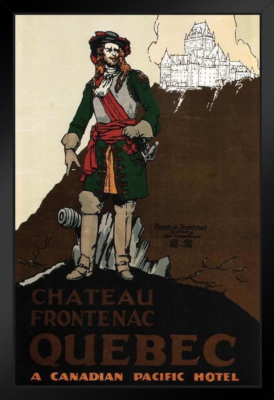 Quebec Chateau Frontenac Comte Vintage Travel Art Print Framed Poster 14x20  inch