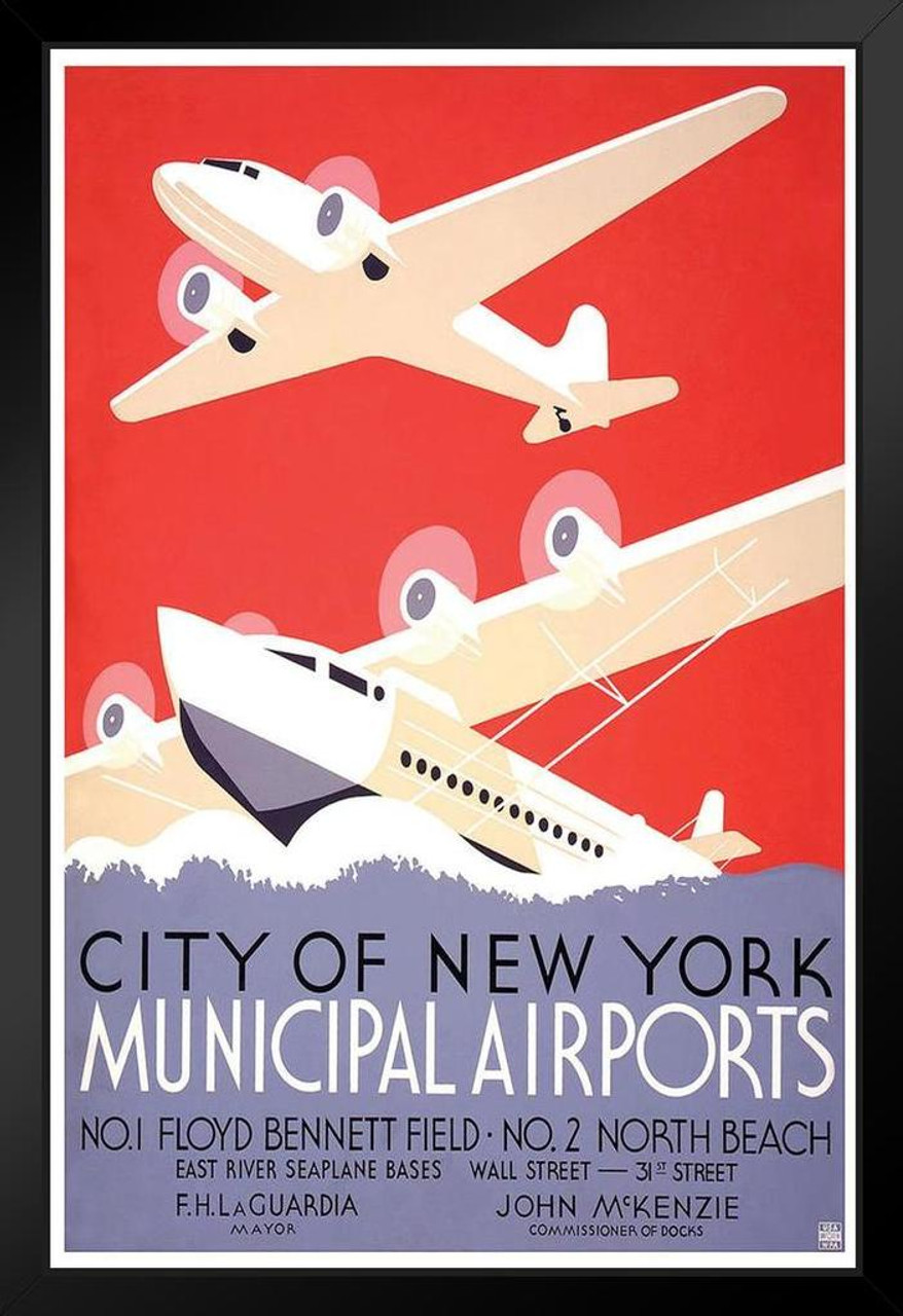 New York City From An Airplane Vintage Photo Art Print Poster 24x36 inch