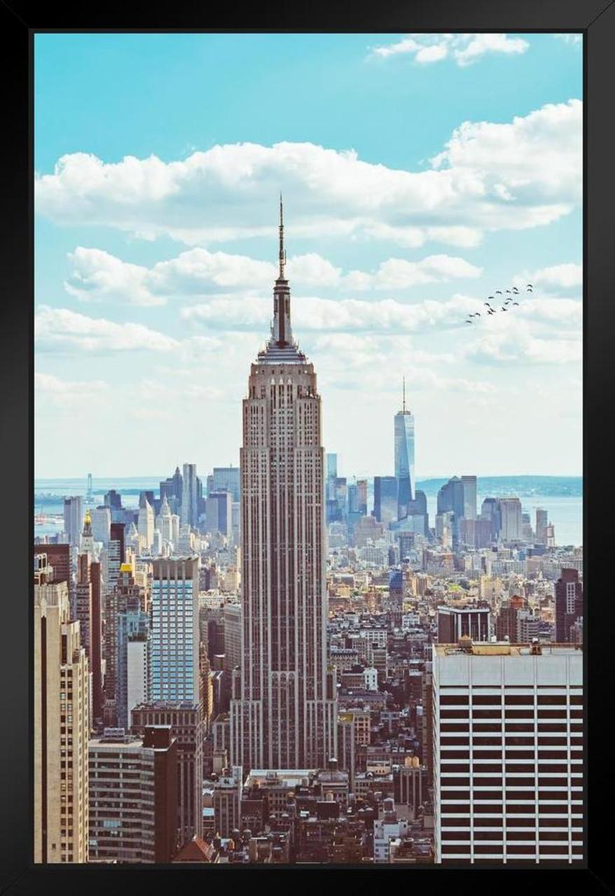 Art Deco Poster New York.Empire State Building Midtown Manhattan New York City Nyc Art Deco Skyscraper Photo 14x20 Inch
