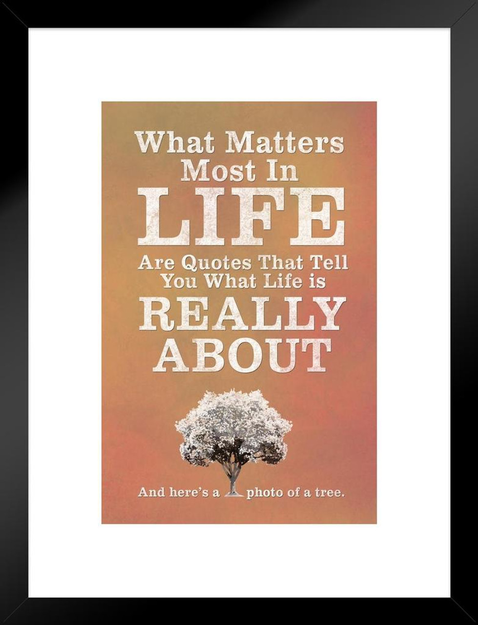 What Matters Most In Life Are Quotes Red Matted Framed Wall Art
