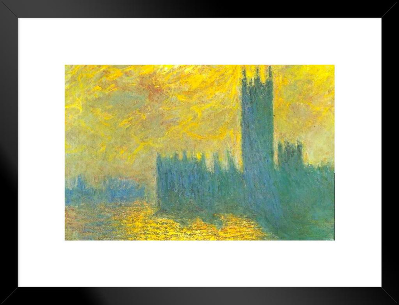 claude monet HAYSTACK AT GIVERNY 24X36 fine art poster FRENCH IMPRESSIONIST